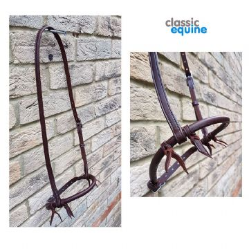 Leather Noseband with Round Nose - Dark Chestnut